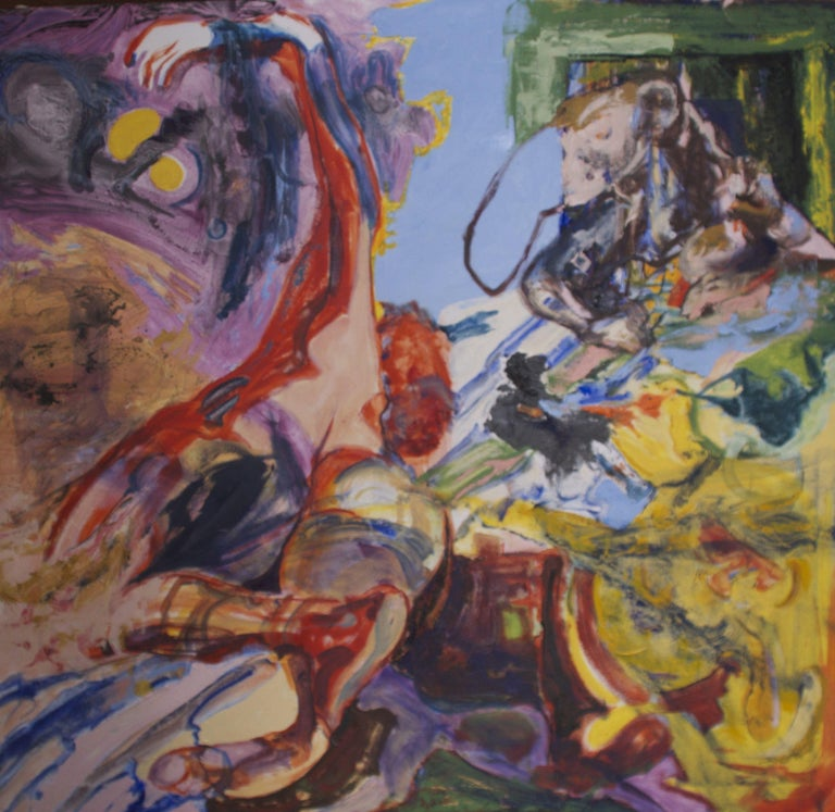 Anita Clearfield Abstract Painting - She, he, it, Painting, Oil on Canvas