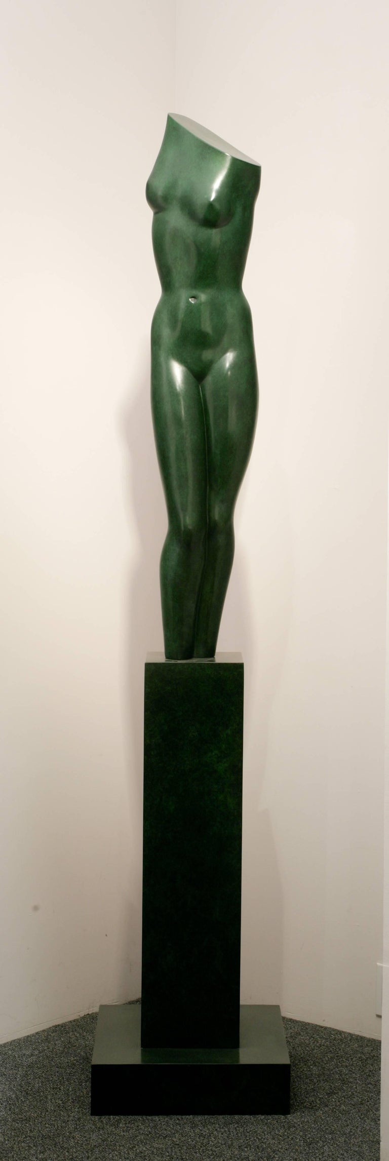 Spring II - Gold Figurative Sculpture by Anita Huffington