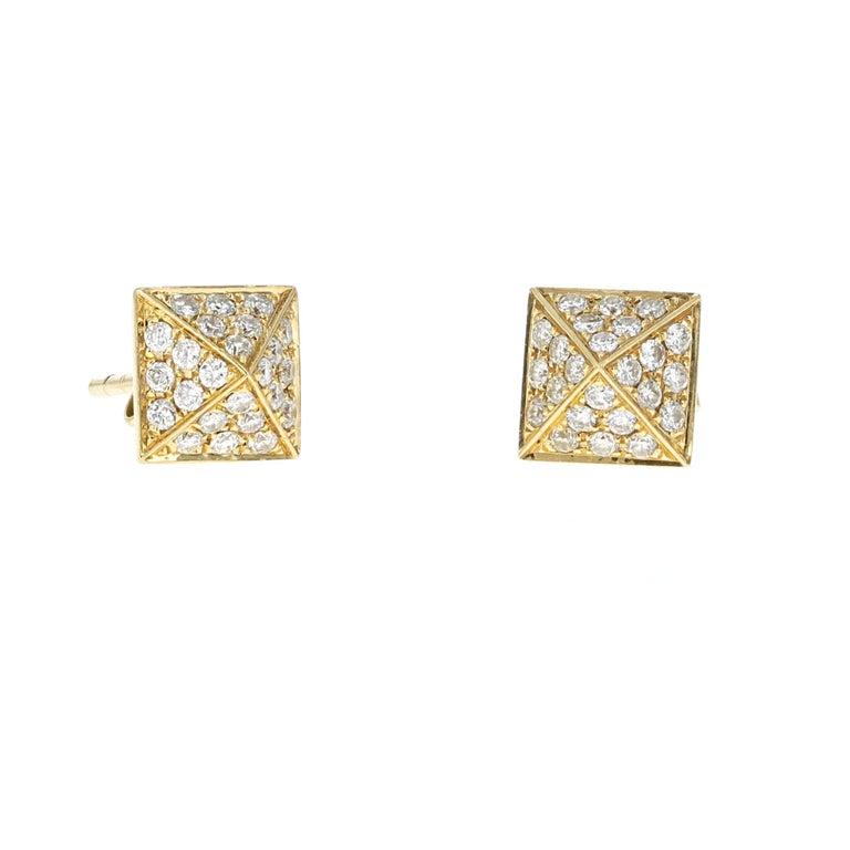 Contemporary Anita Ko Gold and Diamond Spike Bracelet Set For Sale