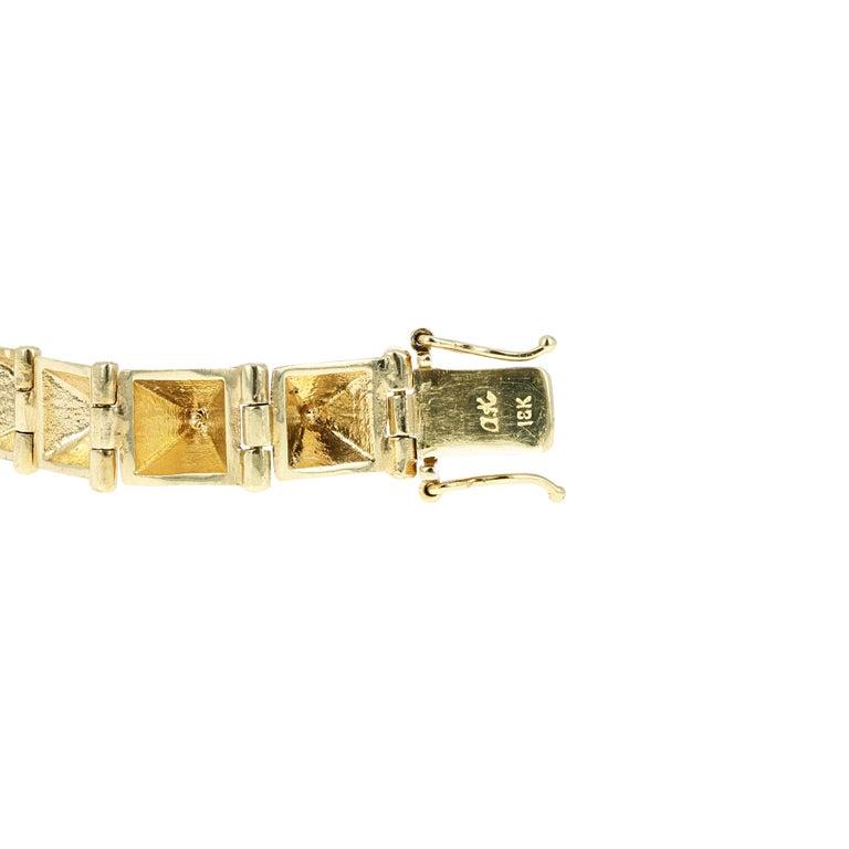 Round Cut Anita Ko Gold and Diamond Spike Bracelet Set For Sale