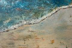 The Edge, original 24x36 abstract expressionist marine landcape