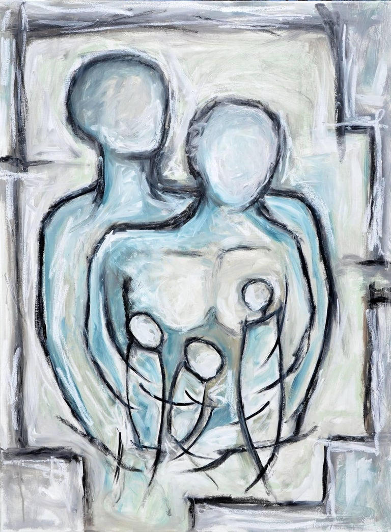 Family Embrace - Painting by Anita Loomis
