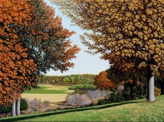 A DIFFERENT VIEW OF MONMOUTH BATTLEGROUND, photorealism, landscape, vivid color
