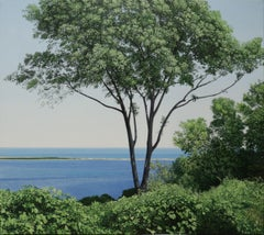SANDY HOOK, water and trees, landscape, nature, realism
