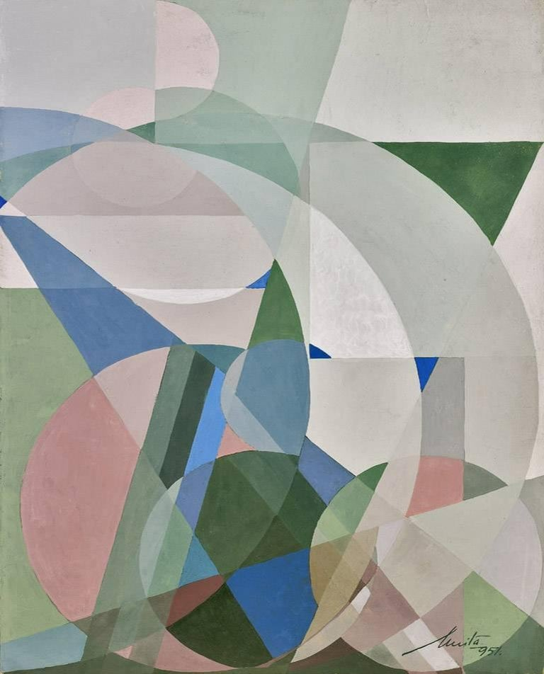 Untitled Abstract Composition, colorful abstract geometric painting