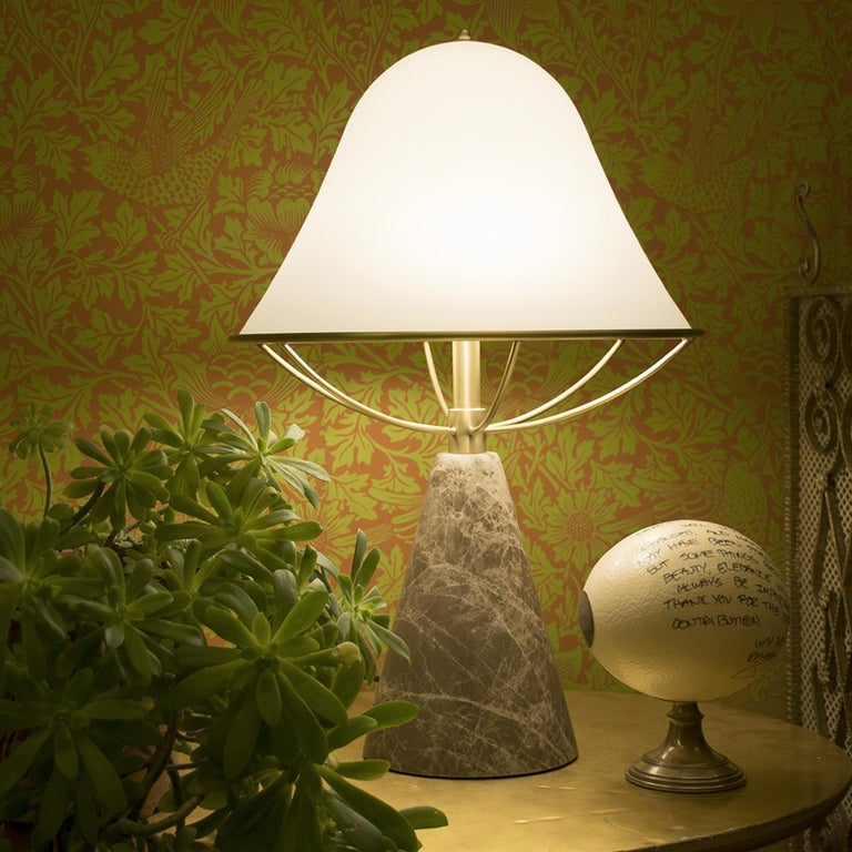 Italian Anita Table Lamp in Emperador Marble by Lorenza Bozzoli For Sale
