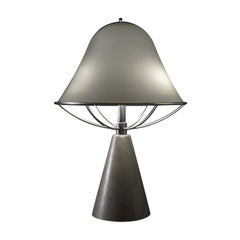 Anita Table Lamp in Persian Grey Marble by Lorenza Bozzoli