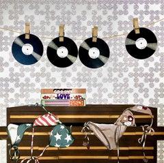 Like A Record Baby_2021_Anja Van Herle_Acrylic/Swarovski Crystals/Panel_Disco
