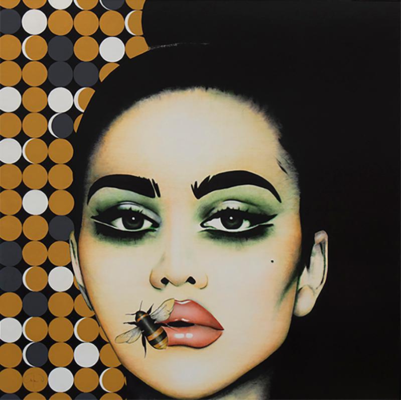 """""""Hey Honey"""" - pop art, swarovski crystals, fashion, eyewear, oversized glasses"""