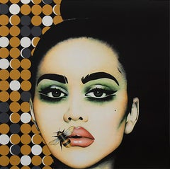 """Hey Honey"" - pop art, swarovski crystals, fashion, eyewear, oversized glasses"
