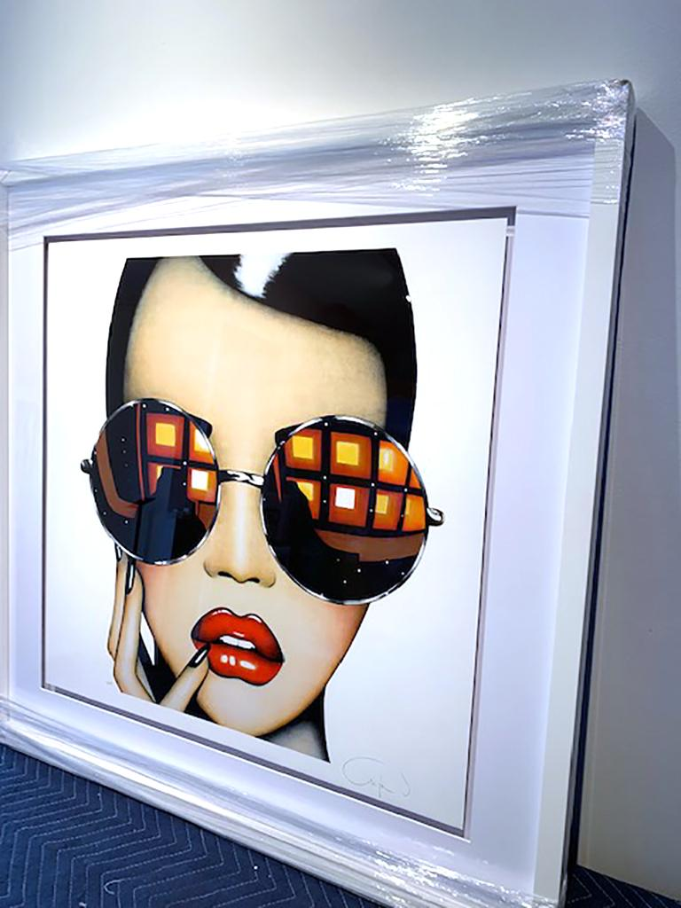 Stay Shady (Limited Edition Print) Pop Art Portrait, Sunglasses, Figurative For Sale 1