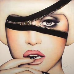 """Zip It"" Limited Edition Hand-Signed Giclée on Canvas by Anja Van Herle"