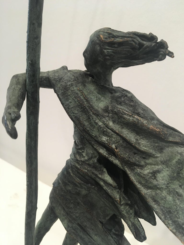 """The stunning bronze sculptures created by Anke Birnie are all unusually """"one off"""" pieces rather than an edition and therefore each one is unique. Anke is fascinated in portraying an image of the natural earthly element """"air"""" combined with the human"""