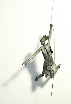 The Other Way Round n.4307 - hanging sculpture human in motion