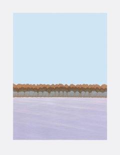 Ann Aspinwall, Corona I, Abstract geometric screen print, 2018