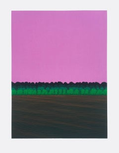 Ann Aspinwall, Corona III, abstract geometric screen print, 2018