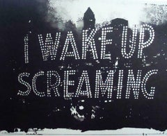 Ann Chernow, I Wake Up Screaming,  2017, Lithograph, Rag paper, Ink, 28 x 36