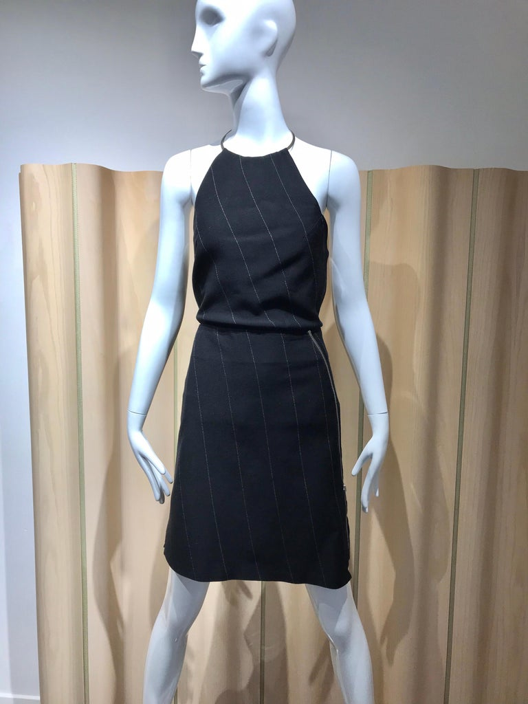 Ann Demeluemeester Wool Halter Top and Skirt Set For Sale 6