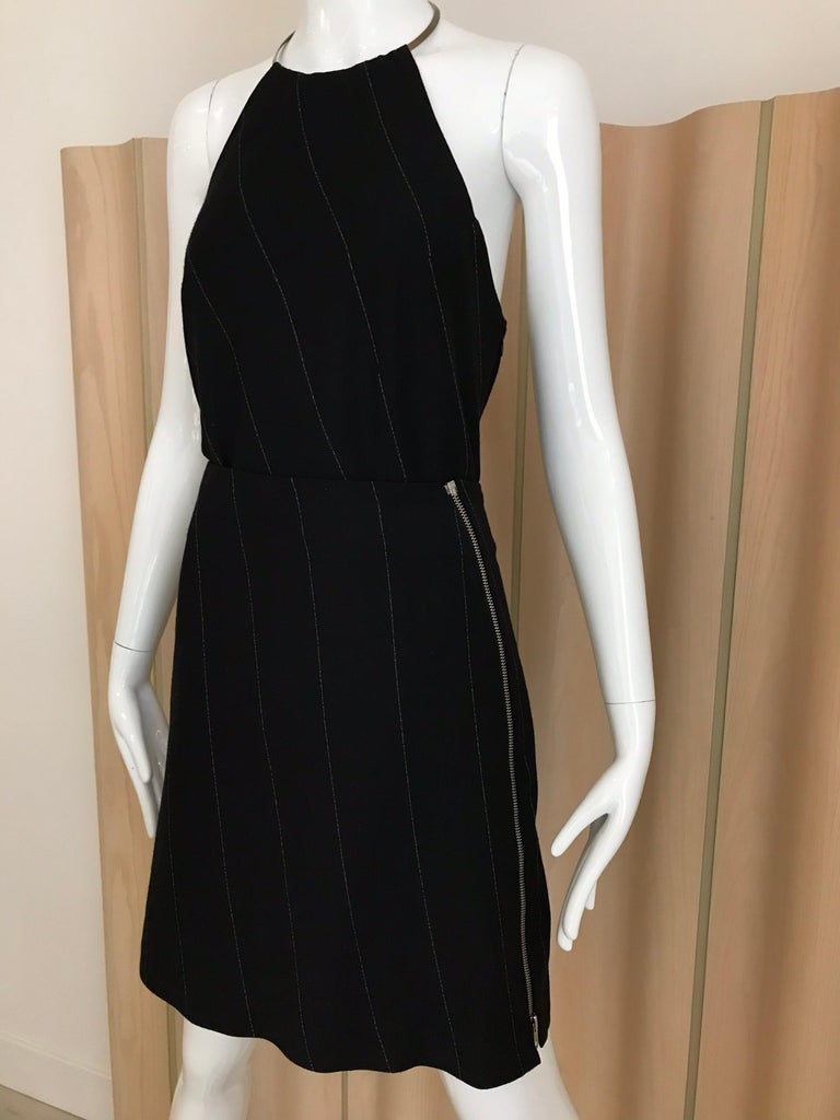 Ann Demeluemeester Wool Halter Top and Skirt Set In Good Condition For Sale In Beverly Hills, CA
