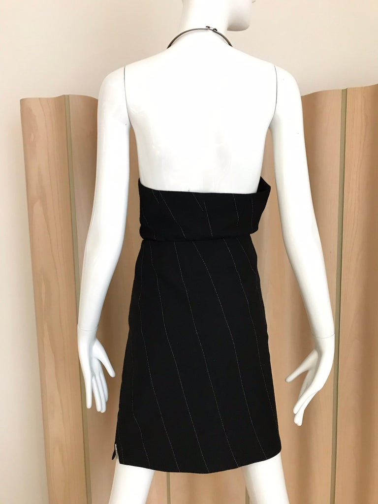 Ann Demeluemeester Wool Halter Top and Skirt Set For Sale 2