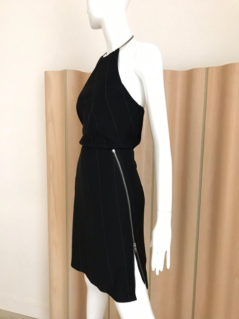 Ann Demeluemeester Wool Halter Top and Skirt Set For Sale 4