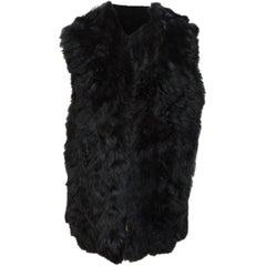 Ann Demeulemeester Black Reversible Shearling Vest