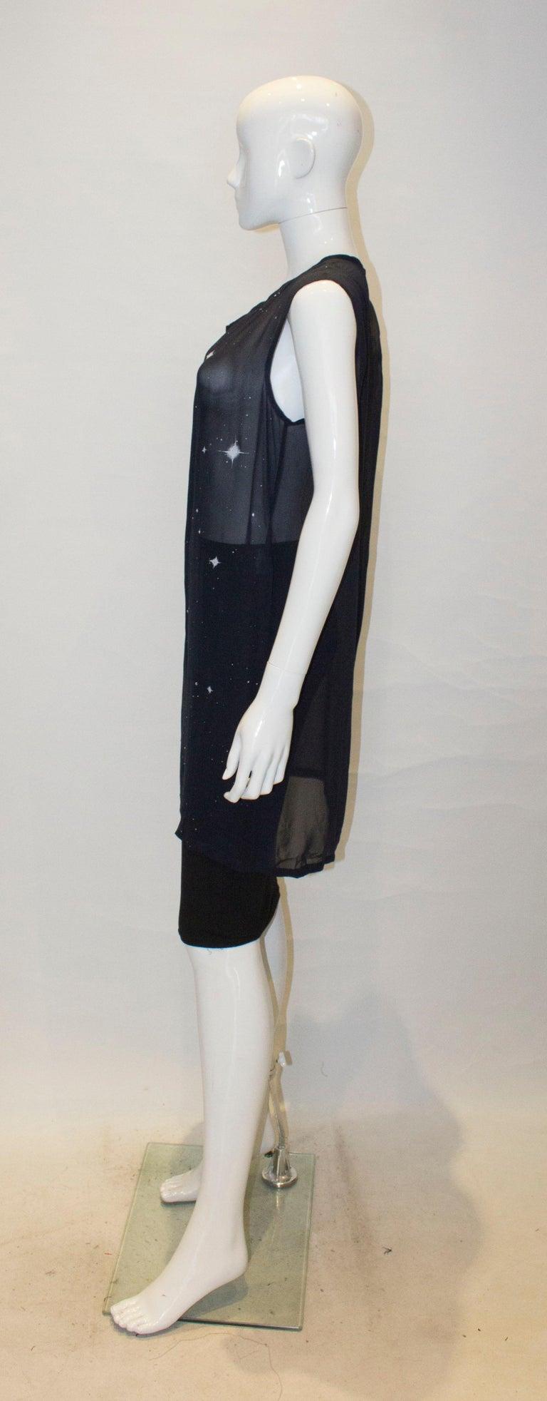 Women's Ann Demeulemeester Blue Silk Top For Sale