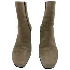 Ann Demeulemeester Camoscio Brown Suede Ankle Boots, Size 38.5