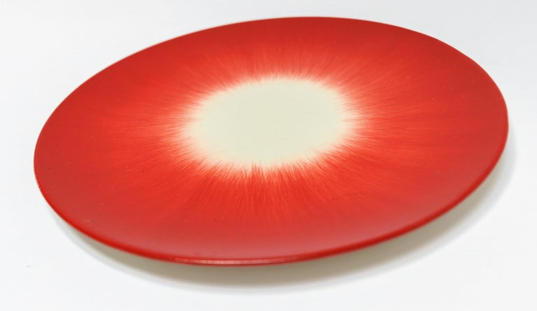 Belgian Ann Demeulemeester for Serax Dé Bread Plate in Off White / Red