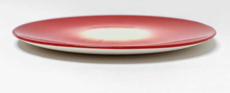 Ann Demeulemeester for Serax Dé Bread Plate in Off White / Red In New Condition In Los Angeles, CA