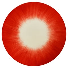Ann Demeulemeester for Serax Dé Dessert Plate in Off White / Red