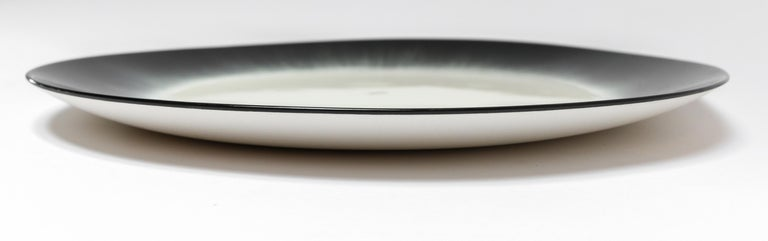 Ann Demeulemeester for Serax Dé Dinner Plate / Charger in Off White / Black In New Condition In Los Angeles, CA