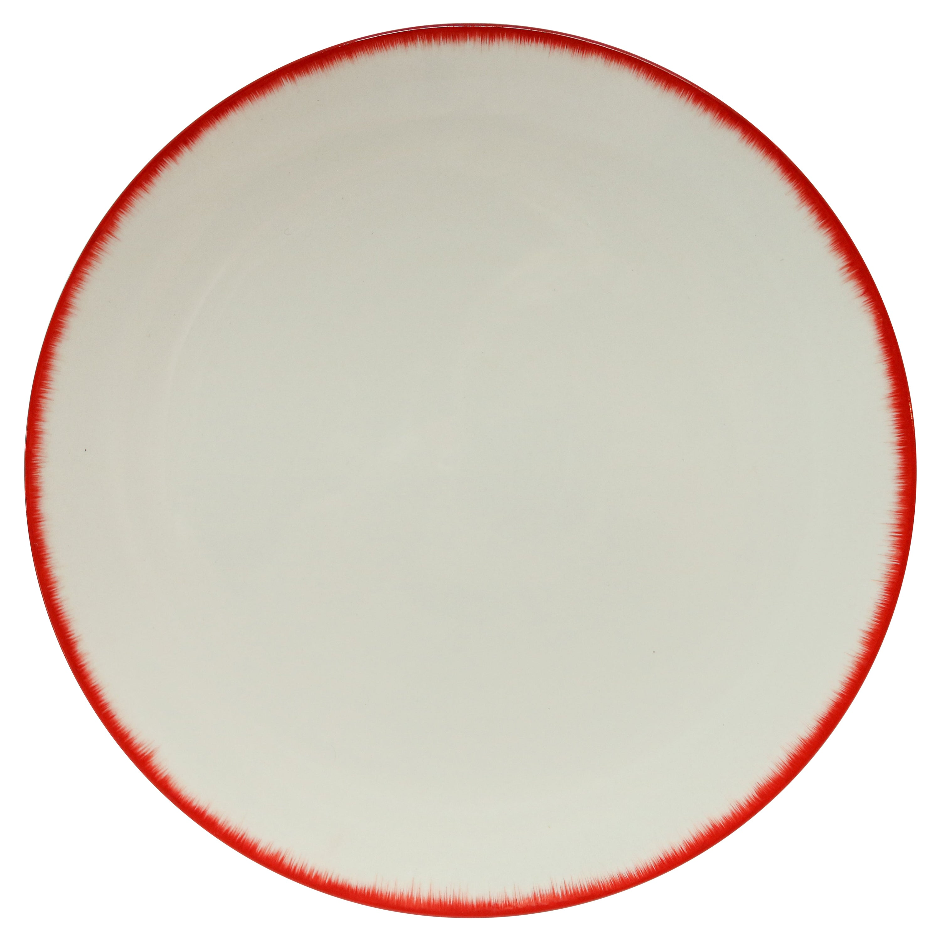 Ann Demeulemeester for Serax Dé Dinner Plate / Charger in Off White / Red Rim