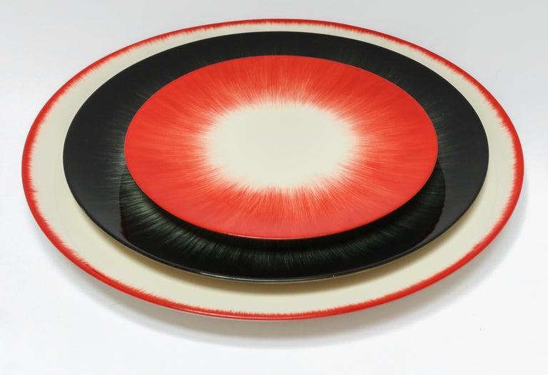 Ann Demeulemeester for Serax Dé Dinner Plate in Off White / Black 2