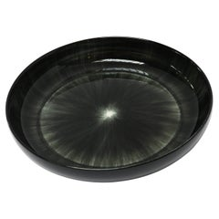 Ann Demeulemeester for Serax Dé Large High Plate / Bowl in Black / Off White