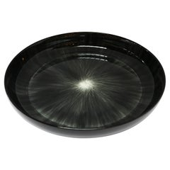 Ann Demeulemeester for Serax Dé X-Large High Plate / Bowl in Black / Off White