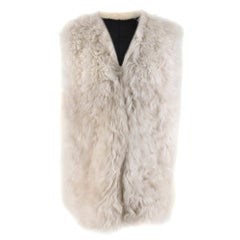 Ann Demeulemeester Fur Leather Sleeveless Reversible Jacket 40