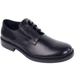 Ann Demeulemeester Men's Black Leather Derby Shoes