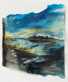 Islands IV: a textural multi-media Swedish landscape by Ann-Helen English