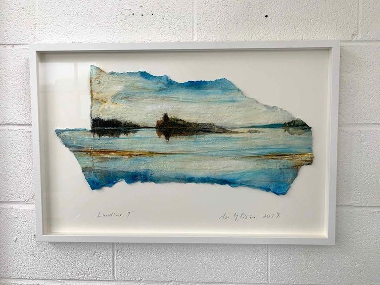 Landline I: Swedish Landscape Painting by Ann-Helen English For Sale 1