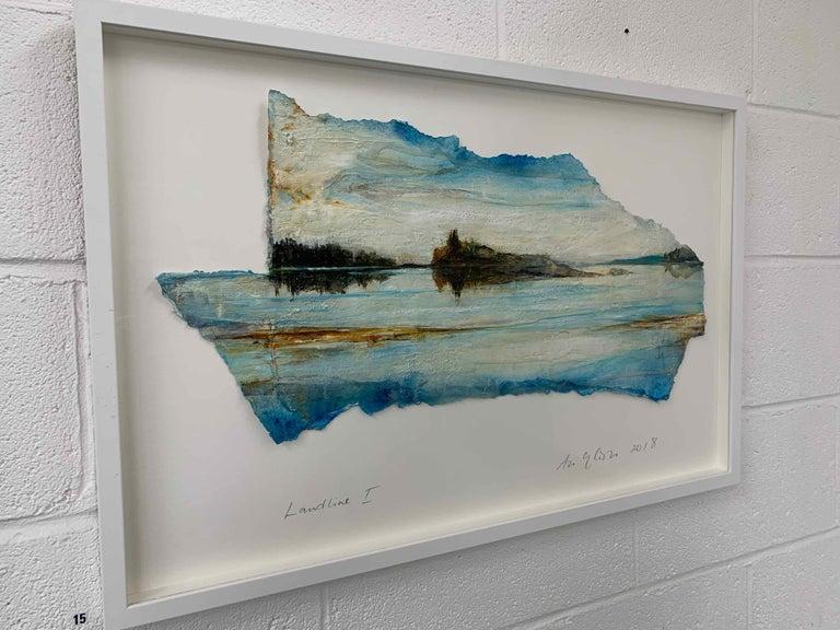 Landline I: Swedish Landscape Painting by Ann-Helen English For Sale 2