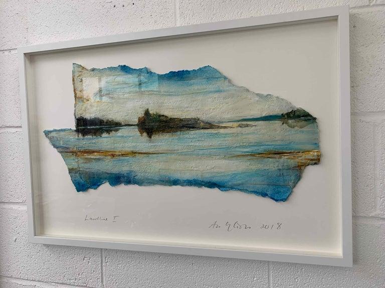 Landline I: Swedish Landscape Painting by Ann-Helen English For Sale 3