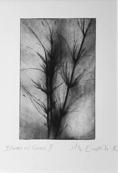 Blades of Grass II: Dry-Point Etching by Ann-Helen English
