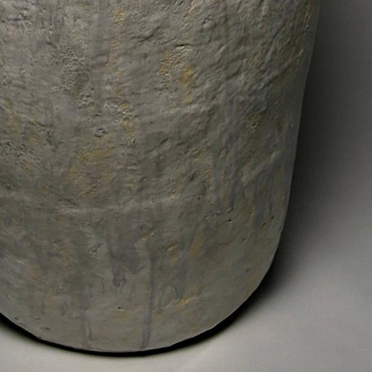 Memory Stone #5 - Beige Abstract Sculpture by Ann Mallory