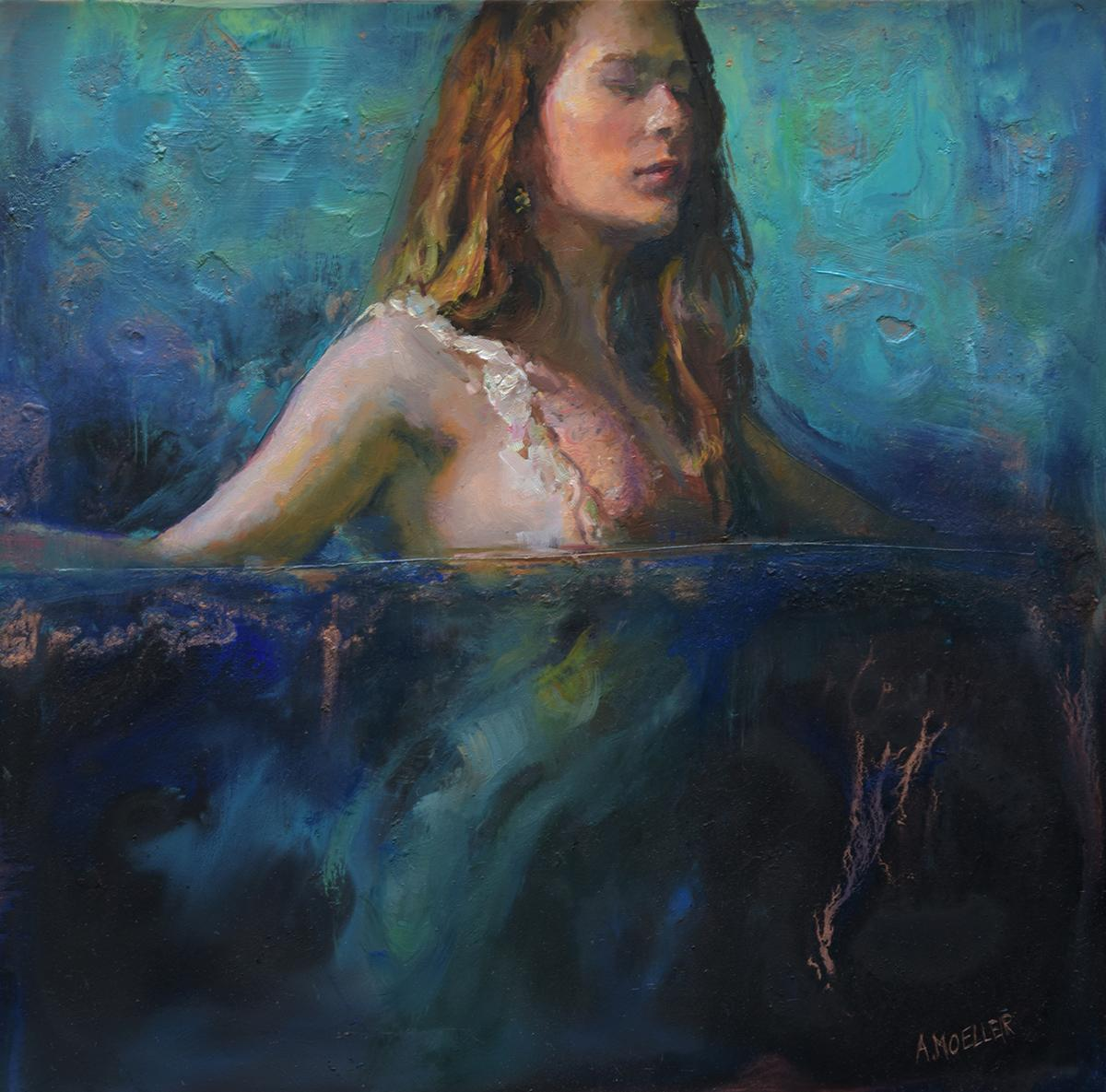 """""""Fluidity,"""" Oil Painting"""