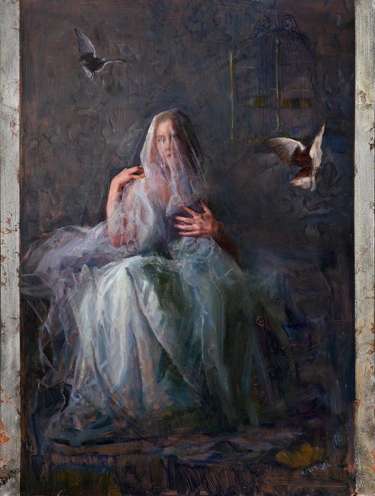 Ann Moeller Steverson Figurative Painting - The Process