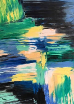 """""""Mint Lemon Tastes"""" Large French Abstract"""