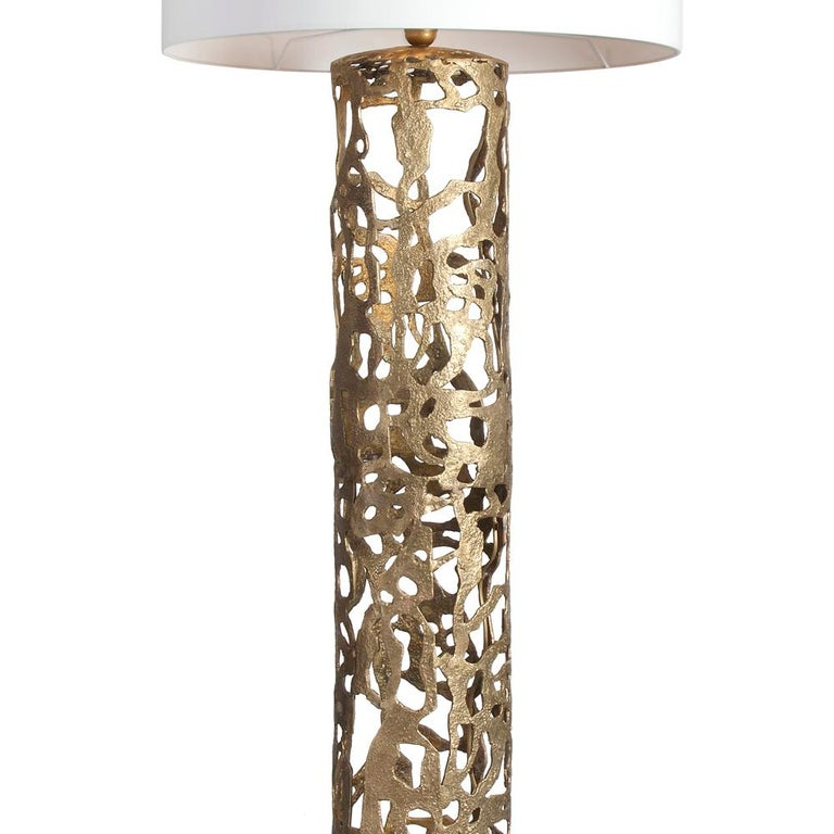 French Anna Floor Lamp in Solid Bronze For Sale