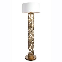Anna Floor Lamp in Solid Bronze