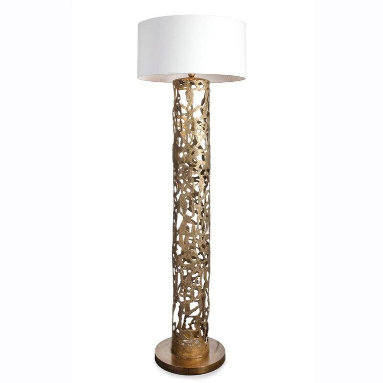 Anna Floor Lamp in Solid Bronze For Sale